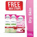 Free Face Wax Strips Normal With Two Veet Cream Dry 100 gm